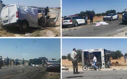 Sfax : 4 morts et 15 blessés dans un accident de la route