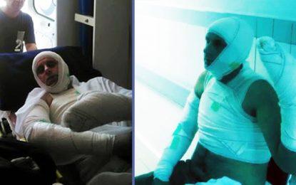 Brûlé à Bir Lahfay, l'agent Moulahi quitte l'hôpital