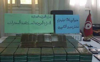 Tunis : Saisie 36 kg de cannabis