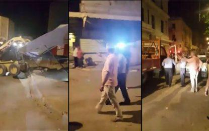 Tunis : Omar Mansour fait démolir des étalages anarchiques