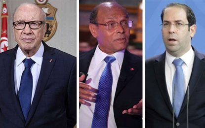 Présidentielle : Chahed talonne Caïd Essebsi et Marzouki