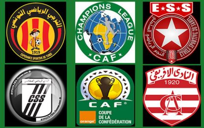 Football-Coupes africaines : Marche groupée des clubs tunisiens