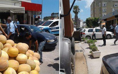 Ezzahra : Les rues débarrassées des commerces illégaux