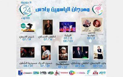 Programme du 24e Festival du Jasmin à Radès