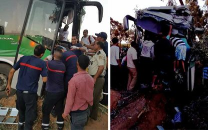 Accident de bus à Gafsa : Trois blessés gardés à l'hôpital