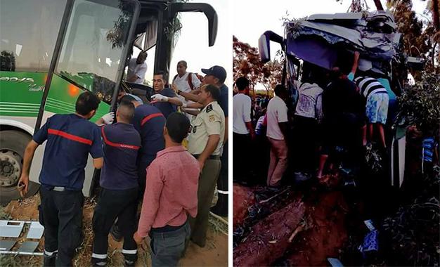 24 blessés dans le dérapage d'un bus — Gafsa