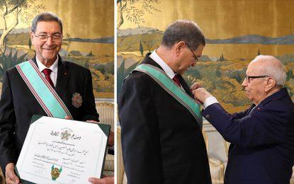 Habib Essid honoré pour ses bons et loyaux services
