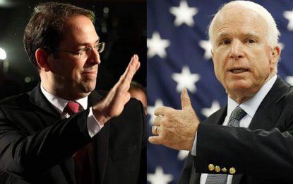 Chahed aux Etats-Unis: John McCain fervent défenseur de la Tunisie