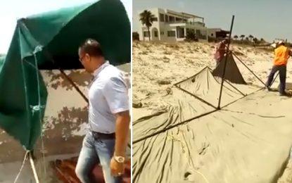 Campagne nationale contre les commerces illégaux sur les plages