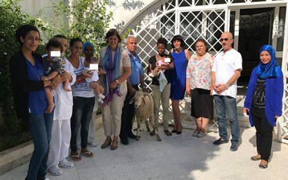 Ambassade du Canada : Mouton de l'Aid pour le Foyer des femmes seules