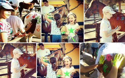 Mahdia : Horse Painting en soutien des enfants handicapés