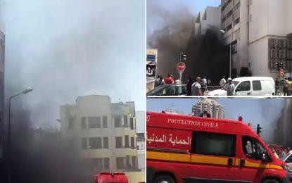 Tunis : Incendie dans un parking de la rue Jean Jaurès