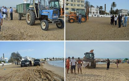 Le Kram : La plage rendue aux baigneurs