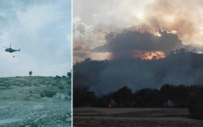 Incendie à Siliana : Dix familles évacuées