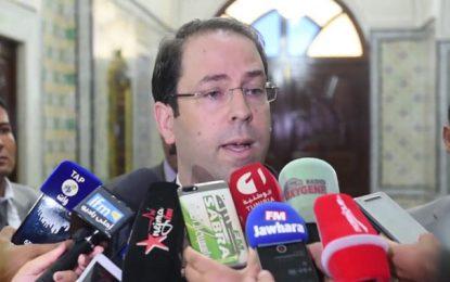 Youssef Chahed commente la démission de Fadhel Abdelkefi