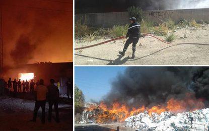 Vers la maitrise de l'incendie de l'usine de fripe au Kef