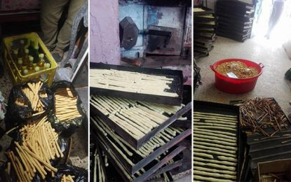 Tunis : Entrepôts crasseux pour préparer du kaki pour les enfants