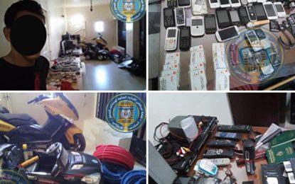 Tunis : Capture d'un voleur, objet de 10 mandats de recherche