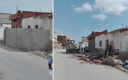Sfax : Destruction de maisons débordant sur les trottoirs