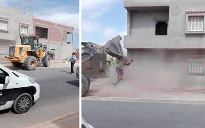 Sfax : Destruction de maisons construites illégalement