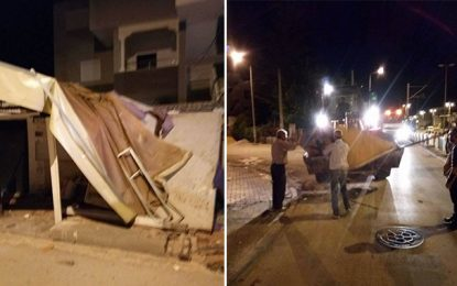 Les trottoirs du Bardo débarrassés des commerces illégaux