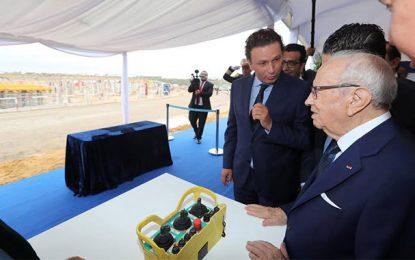 Caïd Essebsi pose de la première pierre du Mall of Sousse