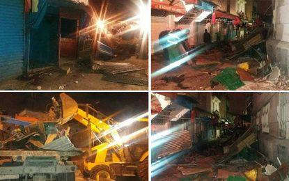 Tunis : Nettoyage nocturne des commerces illégaux
