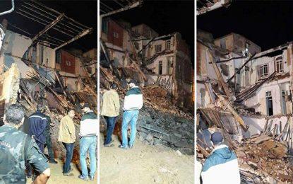 Sousse : Deux morts et 4 disparus dans l'effondrement d'un immeuble