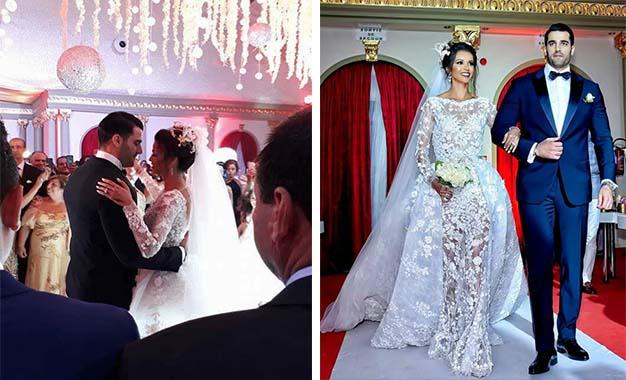 La championne olympique tunisienne d\u0027athlétisme Habiba Ghribi et l\u0027homme  d\u0027affaires Yassine Saya ont célébré leur mariage.