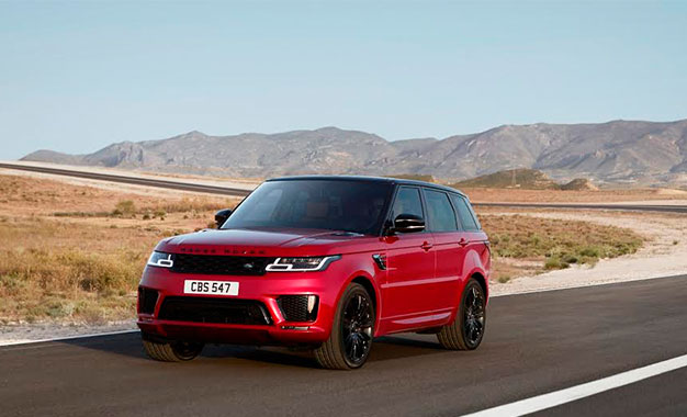 le range rover sport 2018 au salon de duba kapitalis. Black Bedroom Furniture Sets. Home Design Ideas