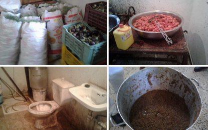 Tunis : Salade méchouia pourrie préparée dans un entrepôt illégal
