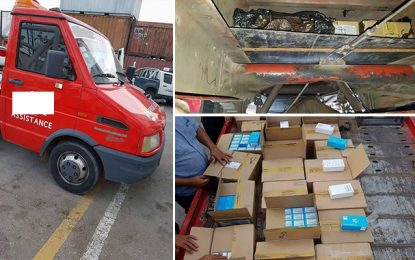 Sfax : Véhicule de société d'assistance utilisé dans la contrebande