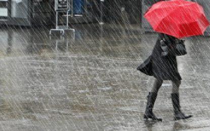 Météo : Temps froid et pluvieux avec des vents soufflant jusqu'à 100 km/h par endroits
