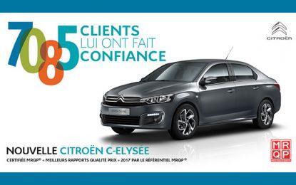 Plus de 7000 Citroën C-Elysée vendus en Tunisie