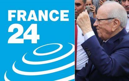 Le logo de France 24 utilisé pour diffuser une intox sur le décès de Caid Essebsi