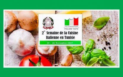 Semaine de la cuisine italienne en Tunisie à Tunis et Sousse