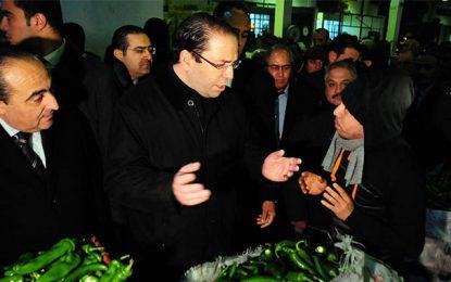 Youssef Chahed au marché de gros de Bir El Kassaa