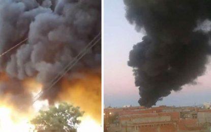 Kairouan : Incendie maîtrisé dans une usine de tabac