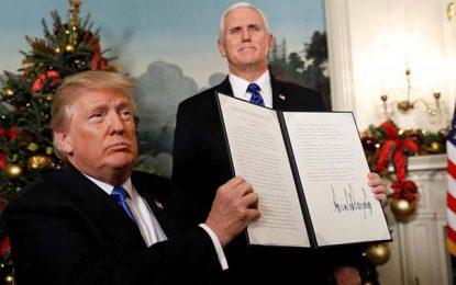 Jérusalem : La communauté internationale préoccupée par la décision de Trump