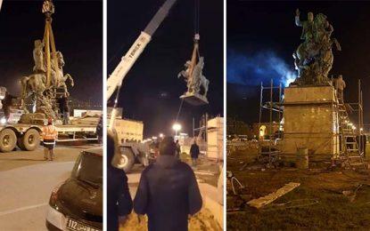 Sfax : La statue d'Habib Bourguiba installée à la place Bab Jebli