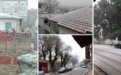 Les premières chutes de neige à Jendouba