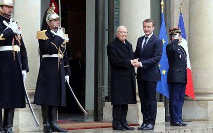 Emmanuel Macron en Tunisie le 1er février 2018
