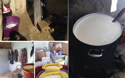 Jendouba : Saisie de produits laitiers impropres à la consommation