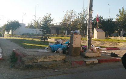Ariana : Les ordures jonchent la place du martyr Mohamed Brahmi