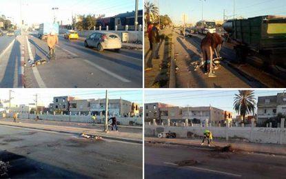 Manifestations en Tunisie : Opération de nettoyage à Hammam-Lif