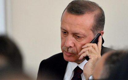 Erdogan s'enquiert de la situation en Tunisie auprès de BCE et Chahed