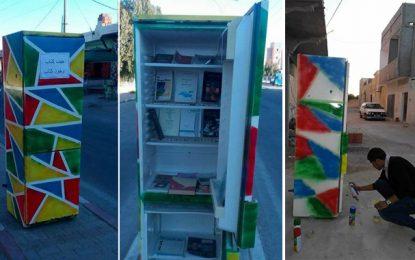 Biblio-mobile à Kasserine : Un frigidaire pour «se nourrir de livres»