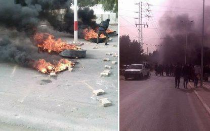 Manifestations en Tunisie : Les routes à nouveau bloquées à Kasserine