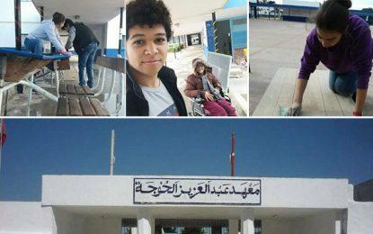 Kelibia : Des élèves restaurent leur classe pendant les vacances