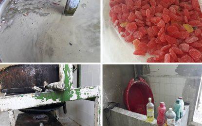 En photos : Bonbons et loukoums avariés pour les enfants à Mnihla
